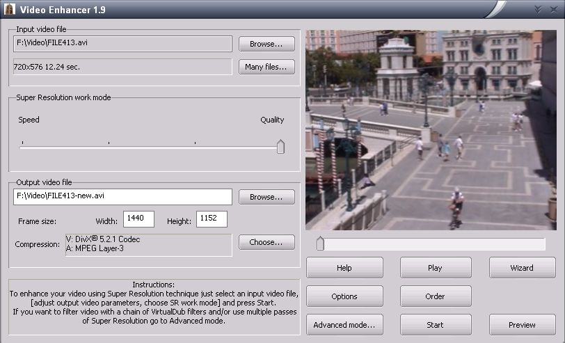 Click to view Video Enhancer 1.9.2 screenshot
